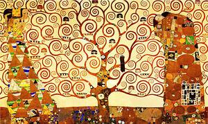 quadro ad olio Klimt L'alabero della vita dipinto a mano olio su tela