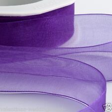 Woven Organza Ribbon 38mm X 20m -purple