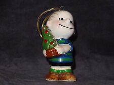 Peanuts Gang Japan 1952 Linus *Holding Christams Tree* Ceramic Ornament