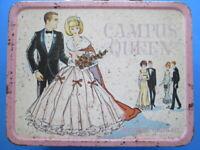 Campus Queen pink metal lunch box 1960's