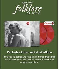 Taylor Swift Target Exclusive 2 LP Rot Vinyl Folklore Album 11/20 Pop Country