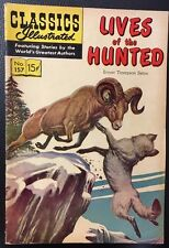 CLASSICS ILLUSTRATED #157 Lives of the Hunted by Seton (HRN 156) 1960 FINE- 1st