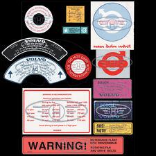 Volvo Amazon, PV, P1800 Decals sticker set **OEM QUALITY**