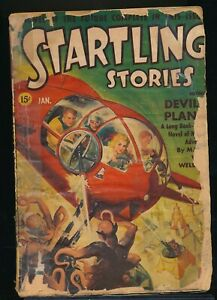 STARTLING STORIES January 1942 SciFi Pulp RUDOLPH BELARSKI Cover ISAAC ASIMOV