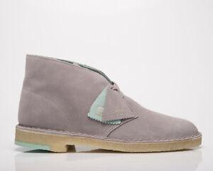 Clarks Originals Desert Boot Men's Grey Combination Casual Lifestyle Shoes