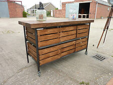 STUNNING INDUSTRIAL RUSTIC PINE OAK KITCHEN ISLAND SIDEBOARD Delivery Available