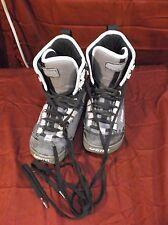 Vans Empire Snowboard Boots Gray Blue Leather Womans Sz 6 Laces Good! 5179