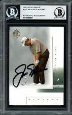 Jack Nicklaus Autographed Auto 2001 SP Authentic Card #117 Beckett 12058837