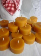 Handmade 25 х 100% Organic Natural Pure Beeswax Church Candles Tea Light