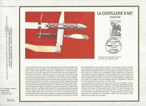 FEUILLET CEF 1er JOUR FRANCE LA COUTELLERIE D'ART THIERS 1987