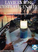 Publicité advertising 1981 La lampe à gaz Camping gaz