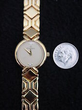 New Vintage French Michel Herbelin Ladies Watch Gold Sapphire Faux Diamonds 3J
