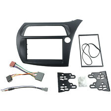 Double Din Fascia For Honda Civic Radio DVD Stereo Panel Frame with Wire Harness