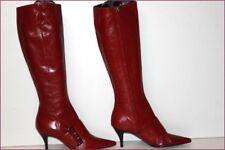 BARBARA BUI Bottes Pointues Tout Cuir Rouge Hermès T 36 TBE