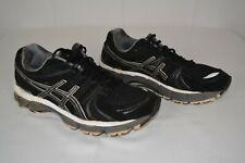 ASICS GEL KAYANO 18 Women's Size US 9 M EUR 40.5 Black White T250N Running Shoes