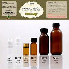 Sandal Wood Pure 100% Essential Oil Natural Spa 5ml-60ml Therapeutic T0230-63