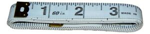 """Tailors 60"""" Tape Measure Fabric Sewing Seamstress Brass Ends Dressmaking 150cm"""