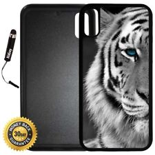 Case for iPhone X 10 8 8 Plus + Note 8 LG G6 - Beautiful Tiger with Blue Eyes