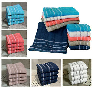 Handtücher 2er 4er Set Handtuch Duschtuch Badetuch Frottee 100% Baumwolle Typ674