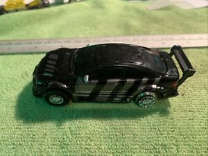 micro scalextric Mercedes Black (missing Rear Tyre)