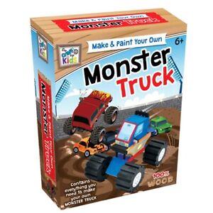 Eduk8 Build & Paint Your Own Monster Truck - Craft For Kids Children Educational