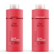 Invigo Wella Brilliance Coarse Thick Shampoo & Conditioner Duo Litre 1000ml Pack