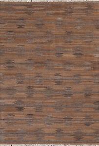 Reversible Kilim Afghan Oriental Area Rug Natural Dye Hand-Woven Wool Carpet 5x7