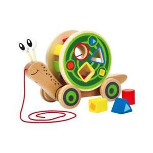 Hape Pull and Play Shape Sorter Snail