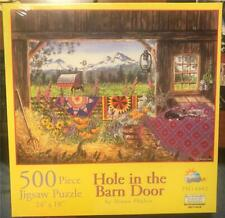 "SunsOut Jigsaw Puzzle ""Hole In The Barn Door"" Diane Phalen 500 Piece New"