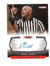 TNA Slick Johnson 2008 Cross The Line SILVER Authentic Autograph Card