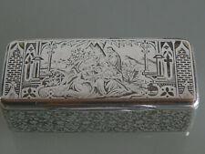 Weihrauchdose, Niellotechnik, Frankreich um 1840, 800er Silber