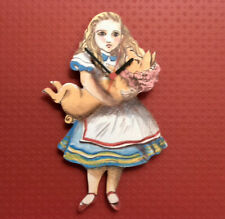 ALICE IN WONDERLAND WALL CLOCK ALICE WITH THE BABY HAND MADE WOODEN CLOCK