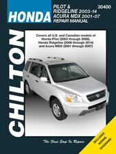 Honda Pilot 03-08, Ridgeline 06-14, Acura MDX 01-07 Repair Service Manual 22507