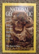 National Geographic 2002 May Inca Mummies, Catfish Hunters, Italy's Po, Moths