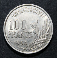 KM# 919.1 - 100 Francs - France 1954 (XF)