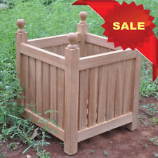 KYOTO PREMIUM TEAK MEDIUM GARDEN WOOD WOODEN FLOWER BOX PLANT POT PLANTER *SALE*
