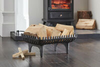 Vintage Decor ® 18 Inch Cast Iron Wood Log Coal Fireplace Grate Freestanding