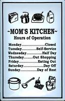 Moms Kitchen Blechschild Schild 3D geprägt gewölbt Metal Tin Sign 20 x 30 cm