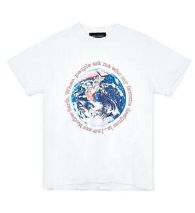 "BIANCA CHANDÔN Men's ""When People Ask"" T-Shirt (S) White Cotton USA NWT Ltd. Ed."