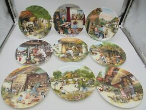Royal Doulton Decorative Plates x9 Old Country Crafts Collection Boxed