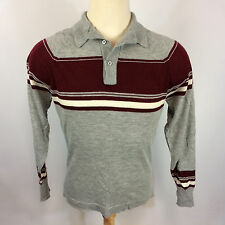 Vintage 60's Polo Shirt Knit Polyester Atomic Retro Hippy Hollywood Pimp L Mod