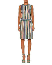 Missoni Sleeveless Stripe-Knit Dress Green/Multi Orig:$1375.00 Size 44 IT (8 US)