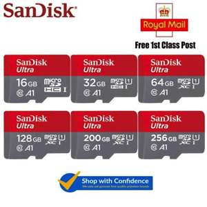 Genuine 16GB 32GB 64GB 128GB SanDisk Micro SD Memory Card microsd SDHC SDXC TF