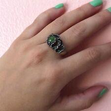 Gem Ring Vintage Modernist Jade