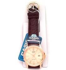 CASIO Classic MTP1183Q-9A  Braun Leder Gold Datum Armbanduhr Uhr +NEU+