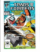 TRANSFORMERS #28 (NM-) 1st Mechanic Strikes Again! Classic Copper-Age Issue