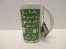 NWT Department 56 Sandra Magsamen Tall Holiday Coffee Tea Mug Cup