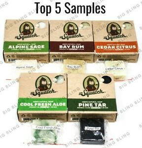DR SQUATCH Soap Samples 5 TOP SELLER BARS - FREE SAME DAY SHIP 12PM - TRACK# USA