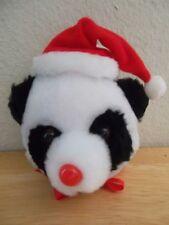 Christmas Doorknob Covers Panda Bear Santa Hat