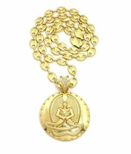 """HIP HOP GOLD PLATED 2 PAC EUPHANASIA PENDANT & 10mm 30"""" GUCCI CHAIN NECKLACE"""